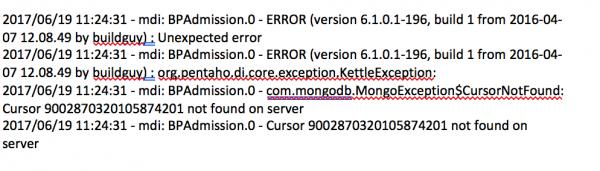 Cursor timeout error while sourcing the data from mongodb