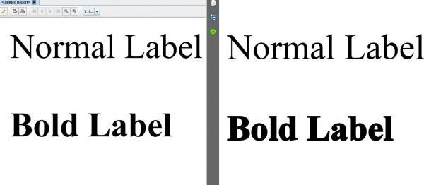 Problem with bold True Type fonts in all Versions of Report