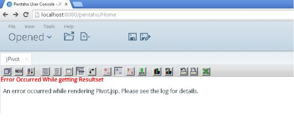 Name:  jpivot view error msg after installed pivot4J.jpg